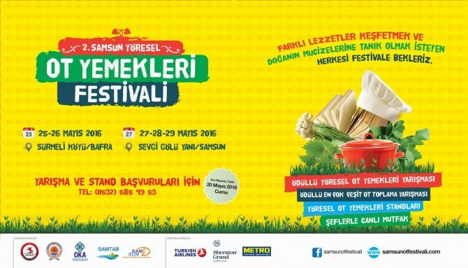 2. Samsun Yöresel Ot Yemekleri Festivali 2016