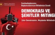 'Demokrasi ve Şehitler Mitingi' 7 Ağustos'ta Samsun'da