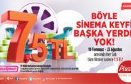 Samsun Piazza'da Sinema Bileti Her Salı 7.5 TL
