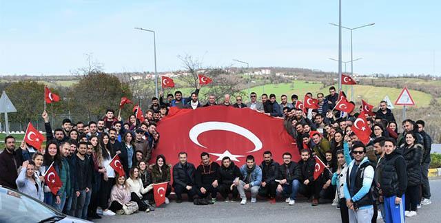 - omu 18 mart canakkale sehitleri andi - OMÜ'de Çanakkale Şehitleri anıldı
