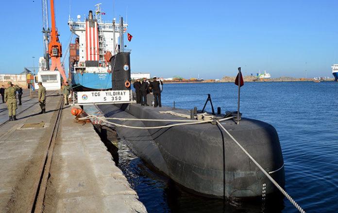 Samsun'a gelen TCG YILDIRAY adlı denizaltısı 4 gün halkın ziyaretine açılacak