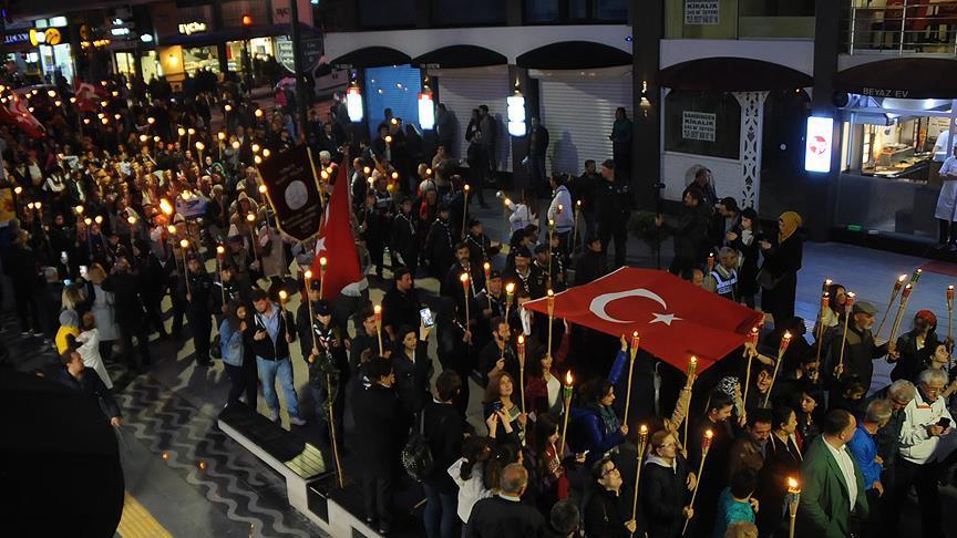 Samsun'da Fener Alayı Yürüyüşü gerçekleşti samsun fener alayi 2017 2