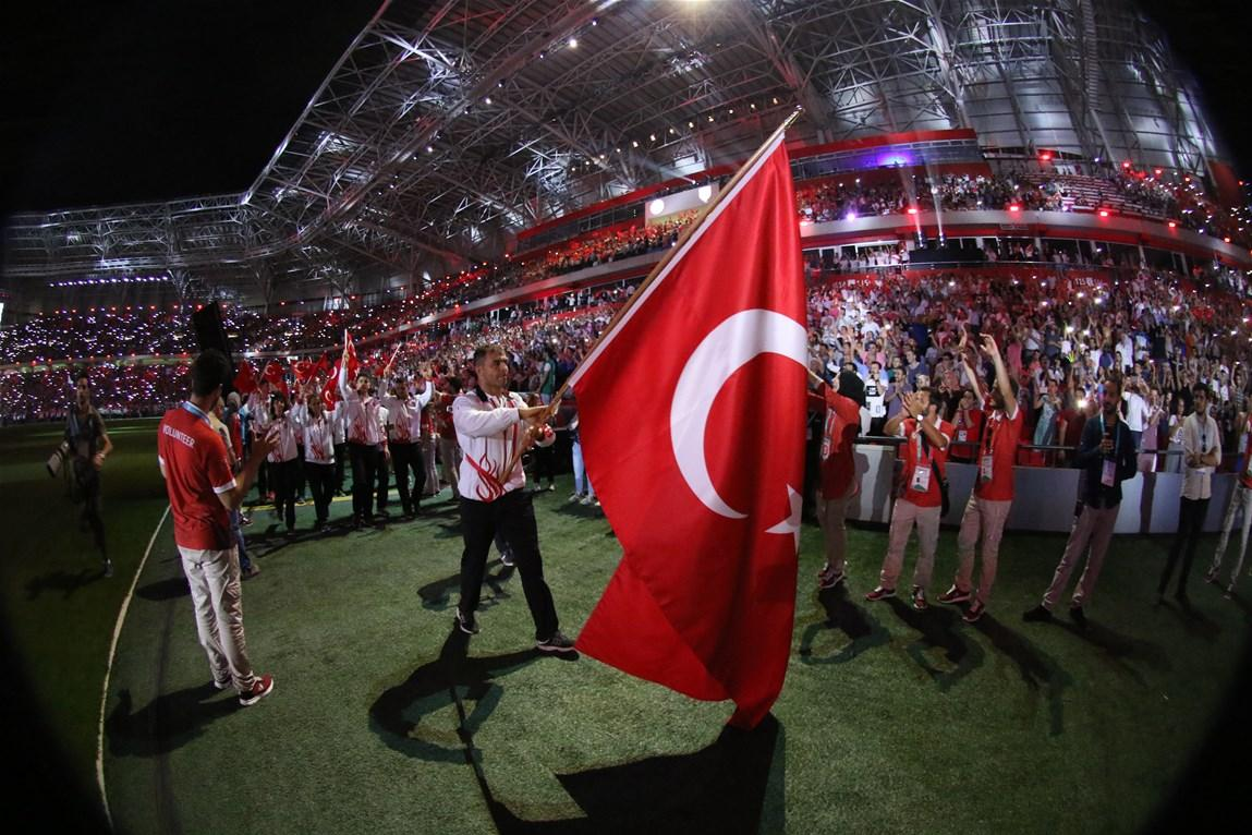 Deaflympics Samsun 2017 muhteşem açılış töreniyle başladı Deaflympics 2017 Samsun acilis toreni 18 temmuz 1