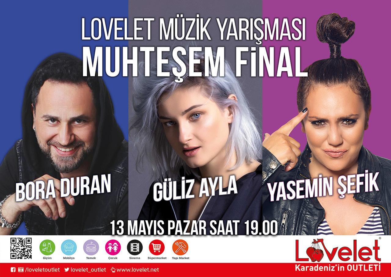 - lovelet muzik yarismasi muhtesem final 1 - Lovelet Outlet Müzik Yarışması Güliz Ayla, Bora Duran ve Yasemin Şefik'li Muhteşem Final!
