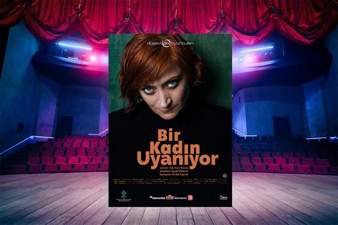 """""""Bir Kadın Uyanıyor"""" adlı tek kişilik tiyatro oyunu Samsun'da sahneleniyor"""
