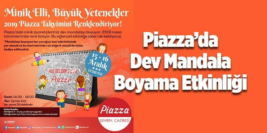 Piazzada Dev Mandala Boyama Etkinliği Samsun Etkinlik