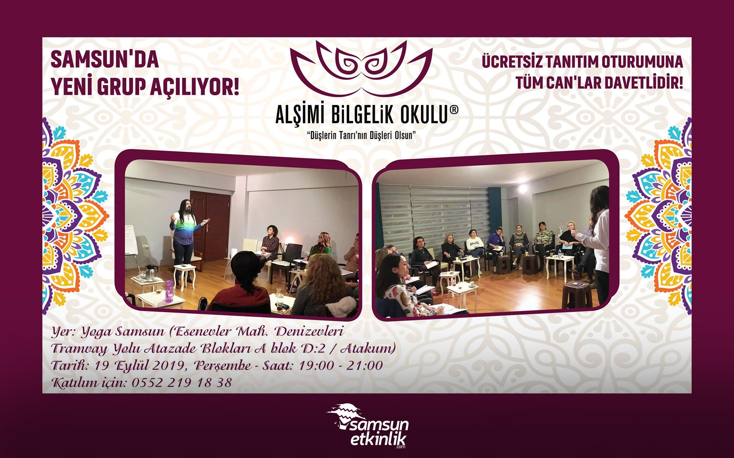 Samsun'da Yeni Simya Grubu - Ücretsiz Tanıtım Oturumu
