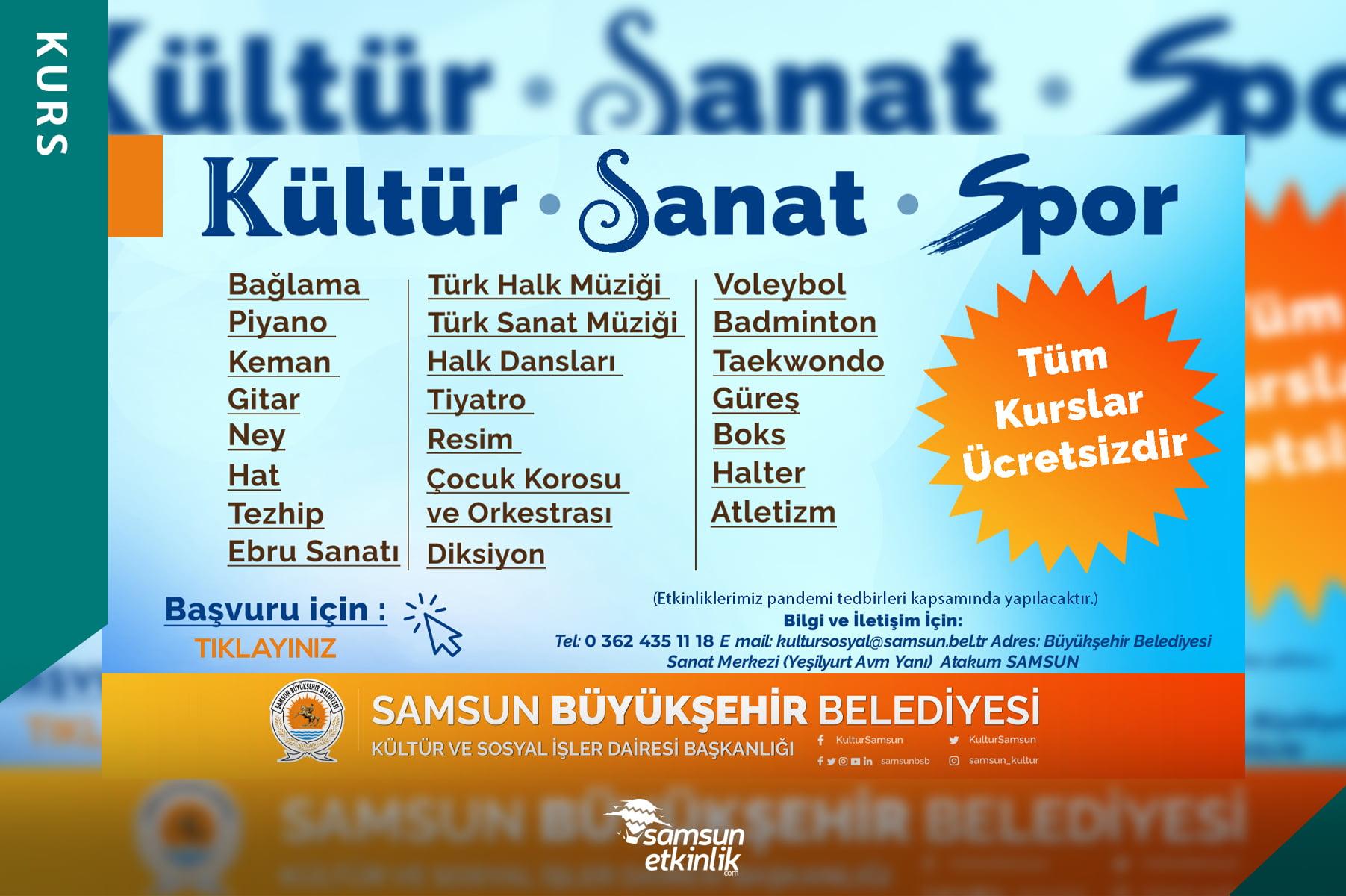 Samsun Büyükşehir Belediyesi Kültür, Sanat ve Spor Kursları