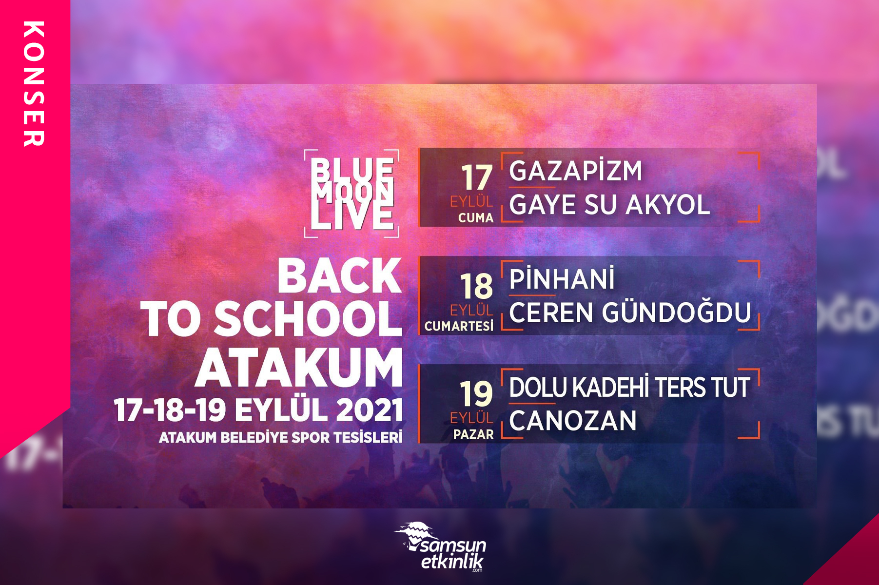 Bluemoonlive Back to School Fest Atakum 2021